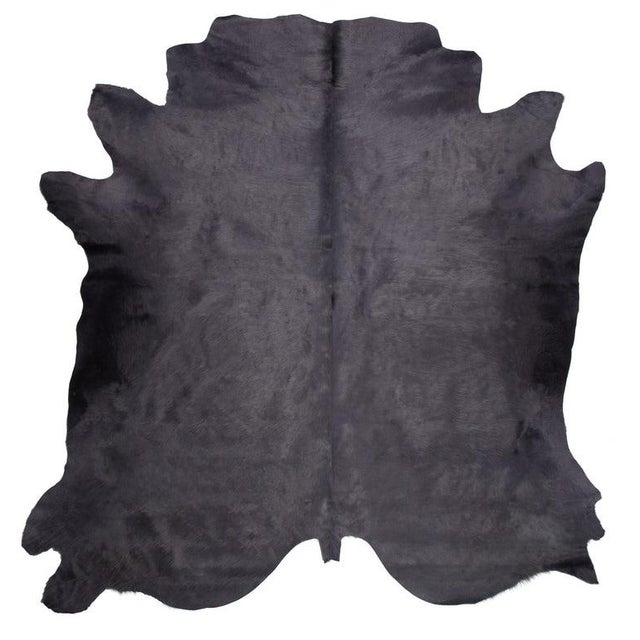 Contemporary Gray Cow Hide Rug - 7′ × 8′ For Sale - Image 3 of 4