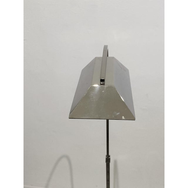 Casella Casella Floor Lamp Nickel Plated For Sale - Image 4 of 12