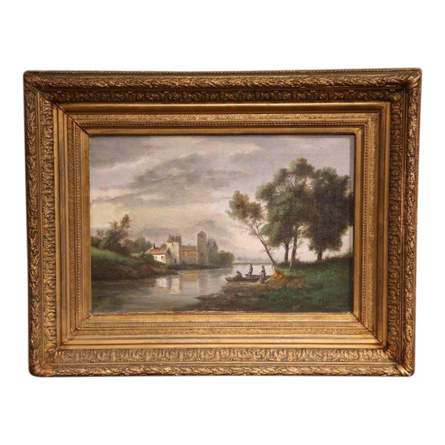Gilt Framed French Pastoral Paintings - A Pair - Image 1 of 10
