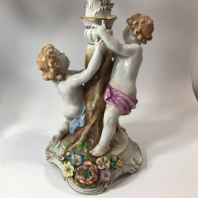 Von Shierholz Figural Porcelain Candelabras - A Pair For Sale - Image 9 of 10