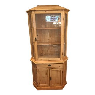 19th Century Hungarian Pine Display Cabinet For Sale