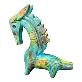 "1950s Vintage Alvino Bagni ""Sea Garden"" Italian Sea Horse Pottery Sculpture For Sale"