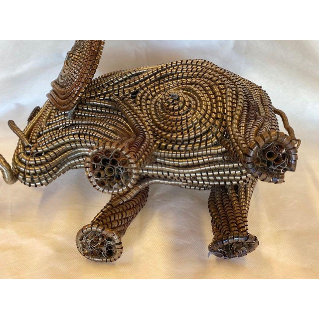 Mid Century Elephant Sculpture From Industrial Material For Sale In Tampa - Image 6 of 13