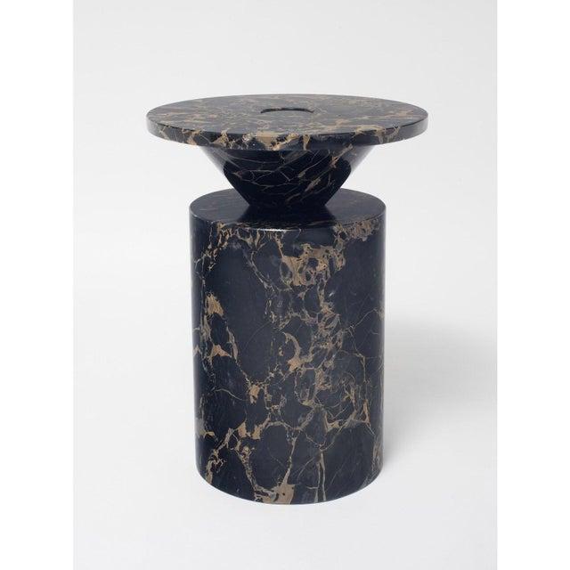 Modern Black Portoro Marble Coffee Table by Karen Chekerdjian For Sale - Image 3 of 13