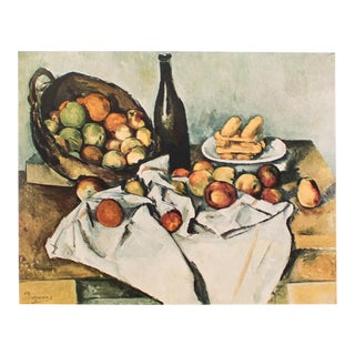 Paul Cezanne, 1st Edition Lithograph After Still Life With Basket of Apples For Sale