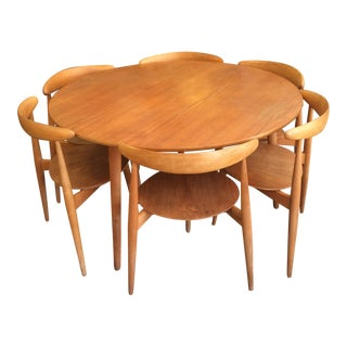 "Hans Wegner Heart Group for Fritz Hansen ""Hjertesættet"" Dining Set For Sale"