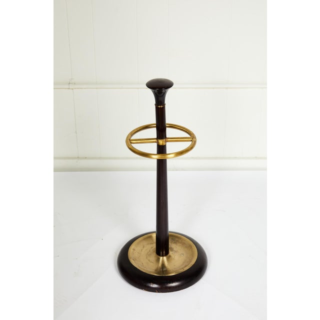 English 20th Century Brass and Mahogany Umbrella Stand For Sale - Image 3 of 13