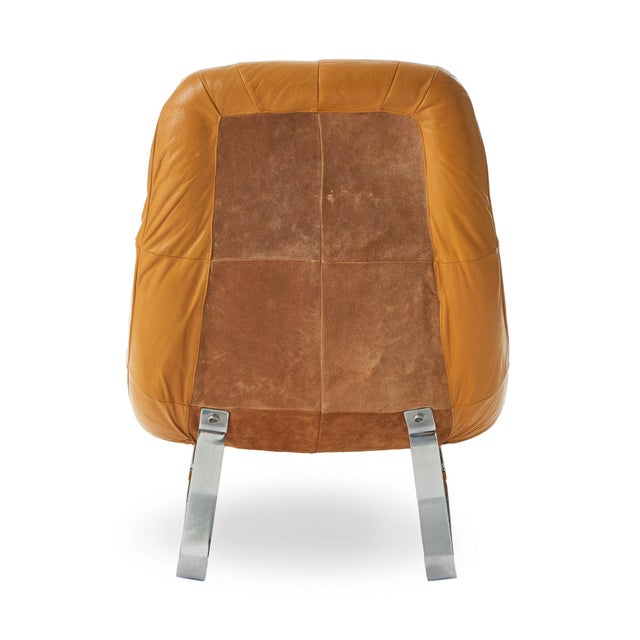 Percival Lafer Percival Lafer 'Earth' Chrome & Leather Lounge Chair For Sale - Image 4 of 9