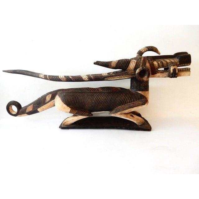 Brown Mansion Size Bambara Chiwara Wood Sculpture For Sale - Image 8 of 10