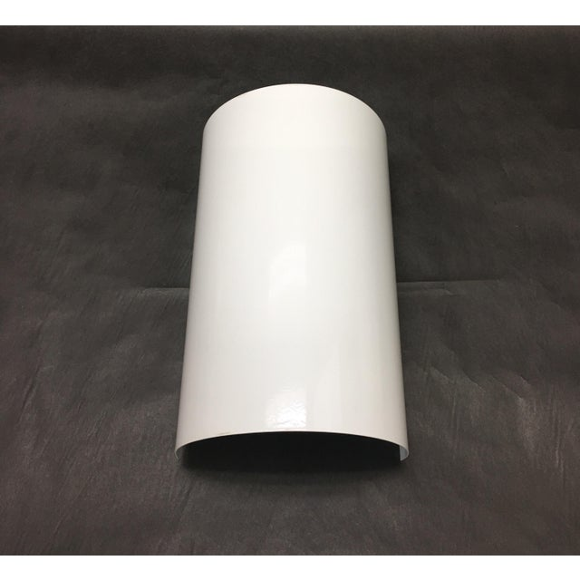Metal 1980s Ron Rezek Modern White Wall Sconce For Sale - Image 7 of 7