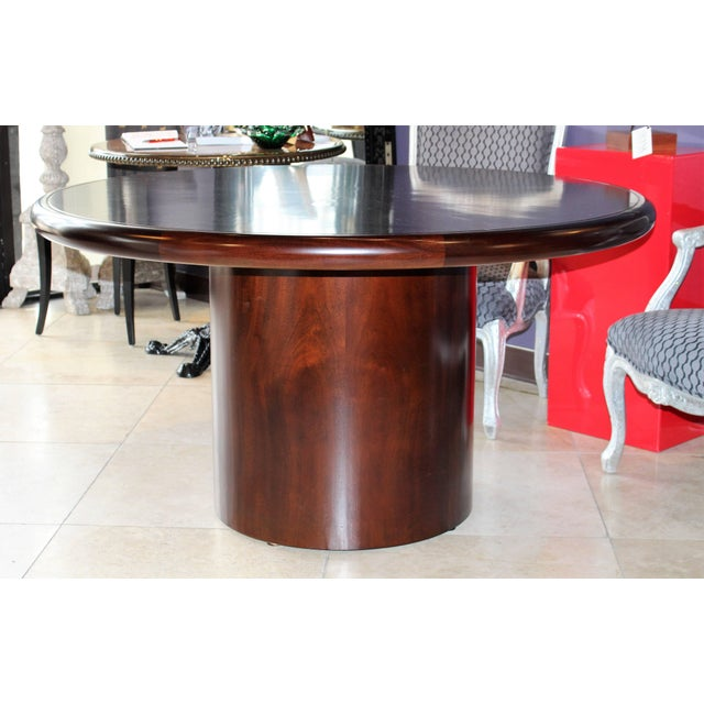 Mid 20th Century 20th Century Dunbar Round Dining or Conference Table For Sale - Image 5 of 9