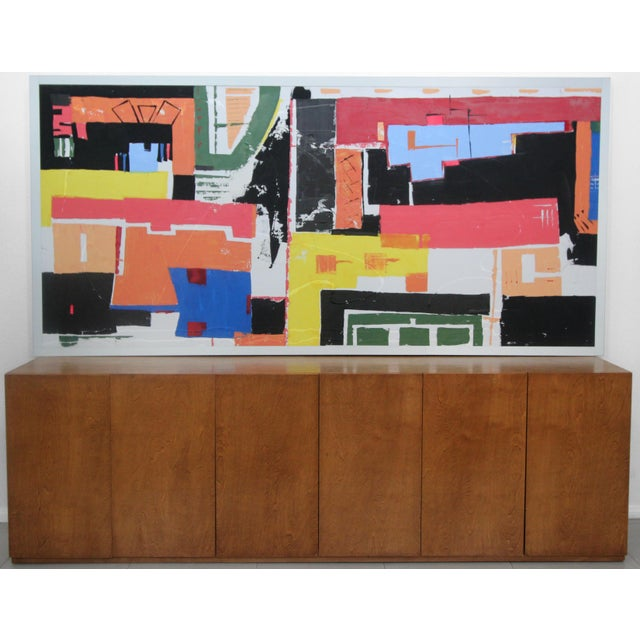 Monumental 8ft Modern Abstract Acrylic Painting on Canvas - Image 3 of 5