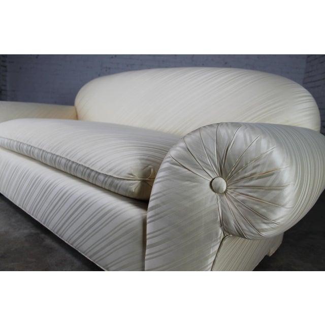 1976 Vintage White Donghia Sofa - Image 8 of 11