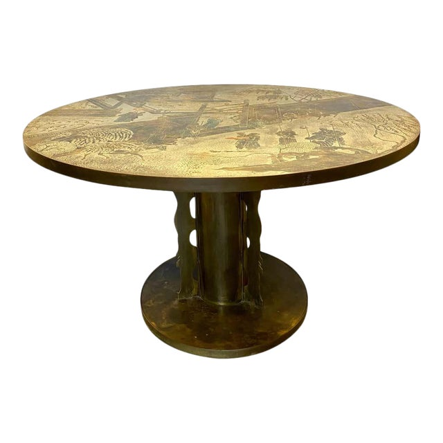 Philip and Kelvin LaVerne Chan Center / Dining Table, Mid-Century Modern For Sale
