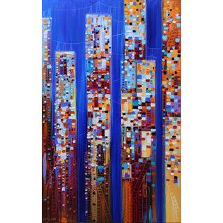 """Skyscrapers"" Original Art by Ekaterina Ermilkina For Sale"
