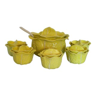 Vintage Mid-Century Yellow Cabbage Ware - Set of 7