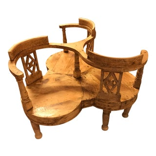 Antique Hand-Made in Brazil 3 Person Chair For Sale