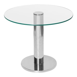 Chrome Accent Table in the Style of Leon Rosen for Pace For Sale