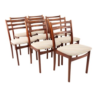 Skovby Mid Century Rosewood Dining Chairs - Set of 8 For Sale