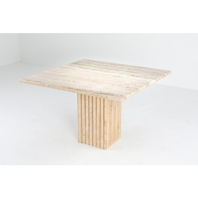 1970s Travertine Dining Table Carlo Scarpa For Sale - Image 9 of 9
