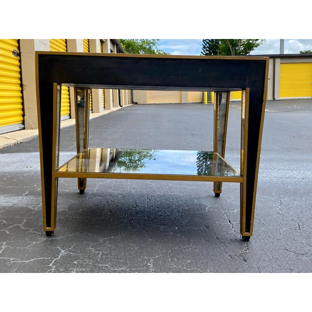 1950s Hollywood Regency Mirrored End Table For Sale - Image 5 of 10