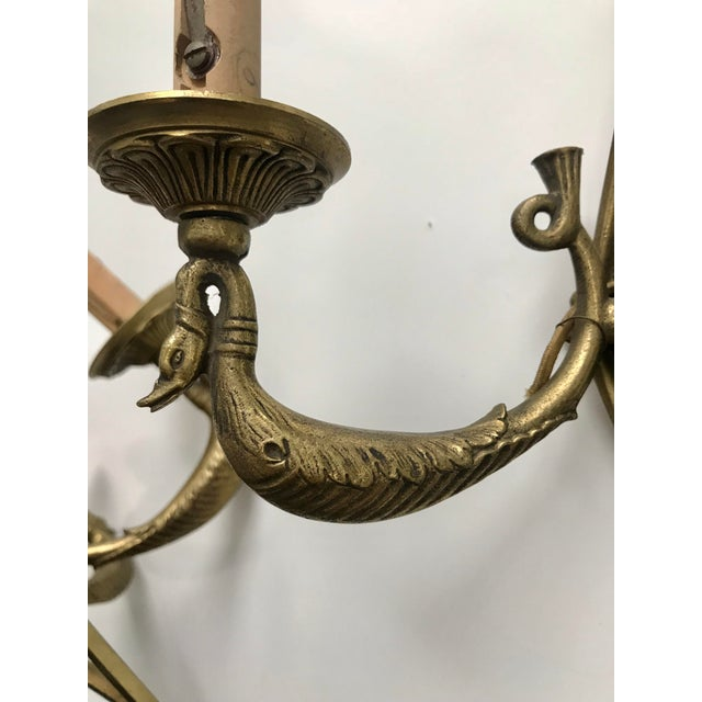 Pair of Antique French Brass Sconces For Sale In Minneapolis - Image 6 of 8
