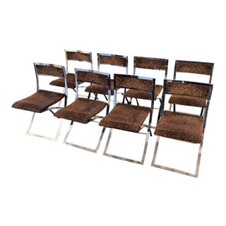 1970s Chrome Folding Chairs by Marcello Cuneo - Set of 8 For Sale