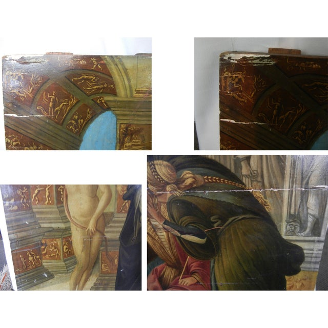 18th Century Antique Italian Renaissance Calumny of Apelles After Sandro Botticelli Print For Sale - Image 12 of 13