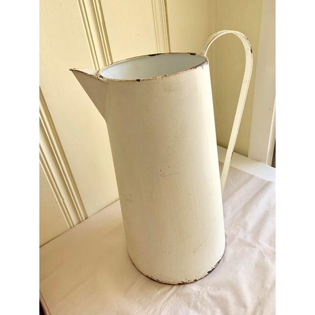 Rustic Farmhouse Large Metal Pitcher Vessel For Sale - Image 10 of 11