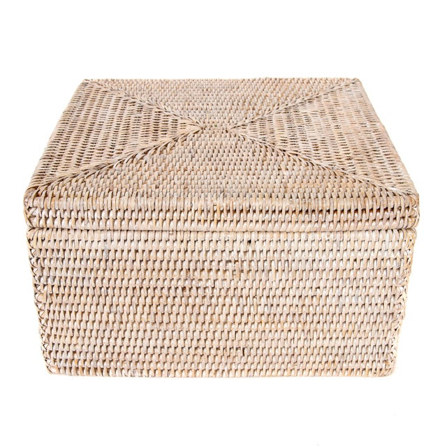 Artifacts Rattan File Box With Lid For Sale In Houston - Image 6 of 6