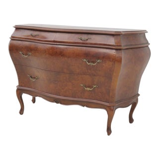 Italian Bombay Burlwood Commode For Sale