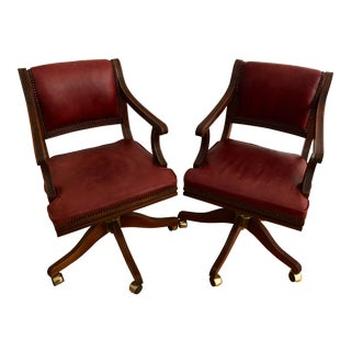 Late 20th Century Bevan Funnell Brittania Swivel Chairs- a Pair For Sale