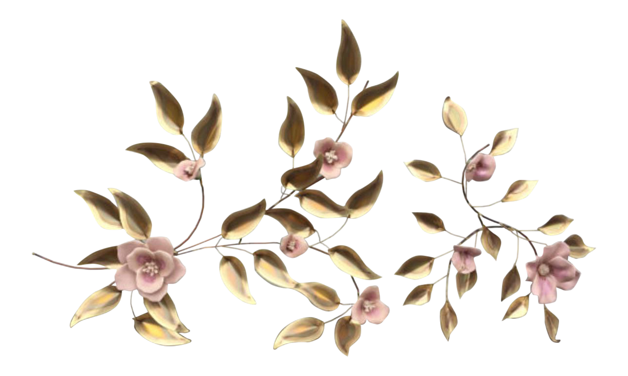 Vintage Metal Flower Wall Art For Sale
