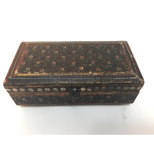 Rajhastani Hand-Painted Decorative Footed Tea Box For Sale - Image 10 of 10