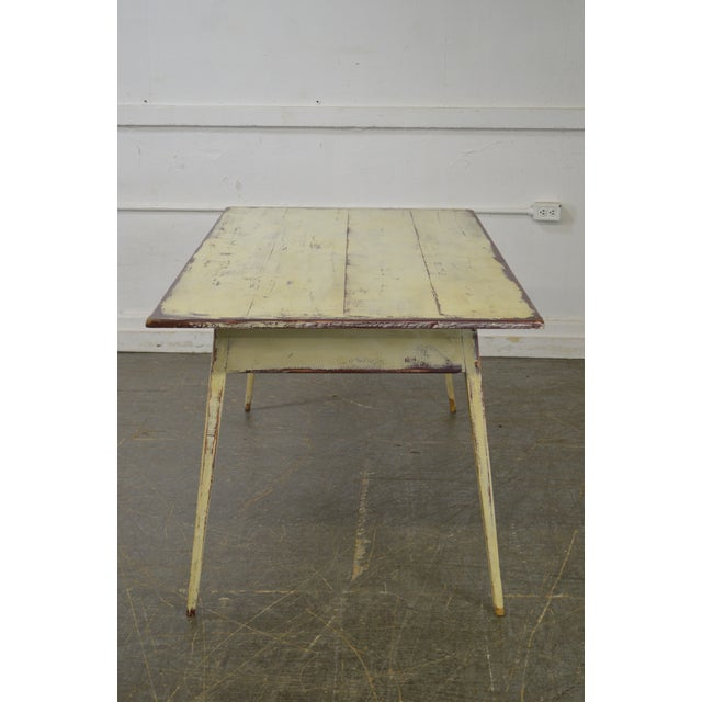 Custom Distressed Antique White Farmhouse Dining Table - Image 2 of 10