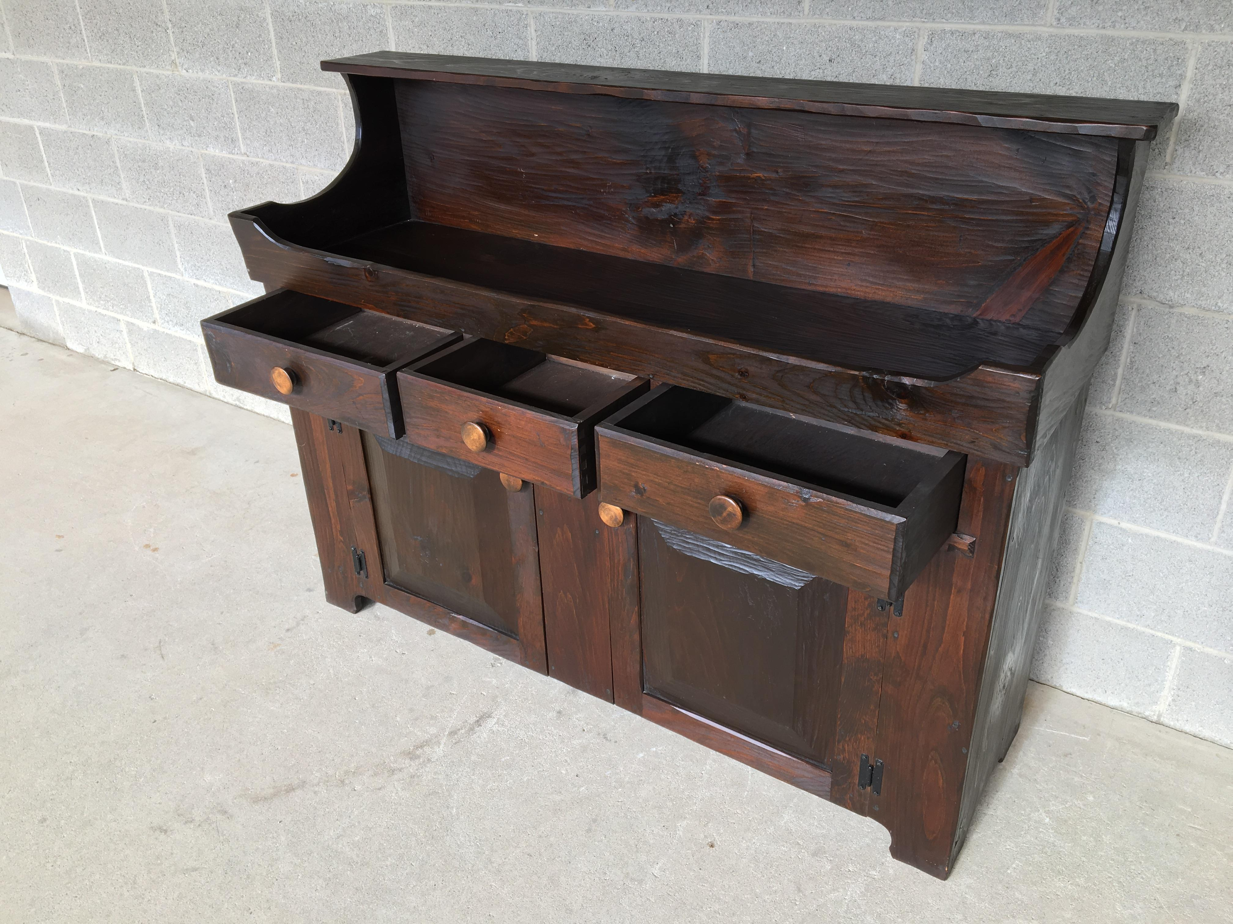 Hunt Country Furniture Rough Cut Dry Sink Sideboard   Image 4 Of 8