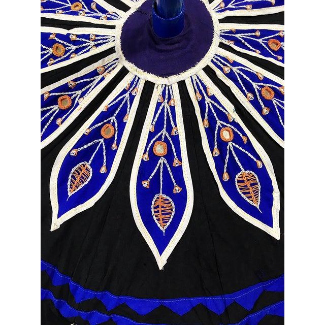 Sun Umbrella Garden Umbrella, Embroidered Cotton - Image 6 of 11