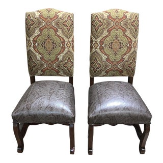 Parker Southern Armless Dining Chairs - a Pair For Sale