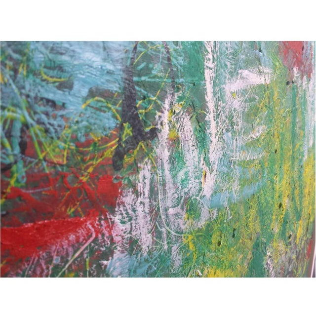 Contemporary Mirtha Moreno Contemporary Abstract Oil Painting on Canvas For Sale - Image 3 of 7