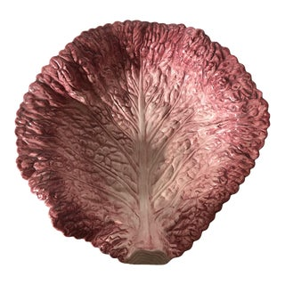 Fitz & Floyd Hand Painted Cabbage Leaf Bowl