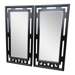 Hollywood Regency Century Asian Mirrors - a Pair For Sale