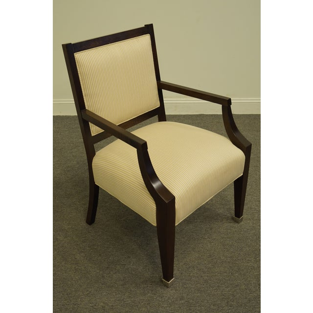Lexington Furniture Vintage Lexington Furniture Nautica Home Collection Upholstered Accent Arm Chair For Sale - Image 4 of 10