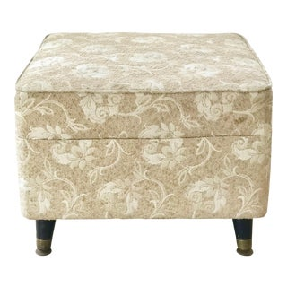 Mid-Century Gold Vanity Stool or Ottoman For Sale