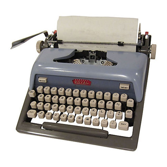 Mid-Century Blue Royal Futura 800 Typewriter - Image 2 of 7