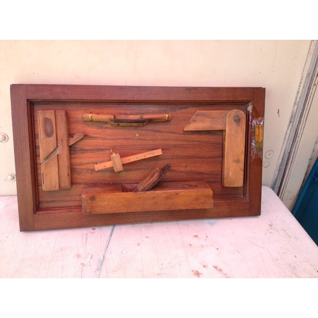 Antique Tools in Reclaimed Wood Shadowbox - Image 3 of 10
