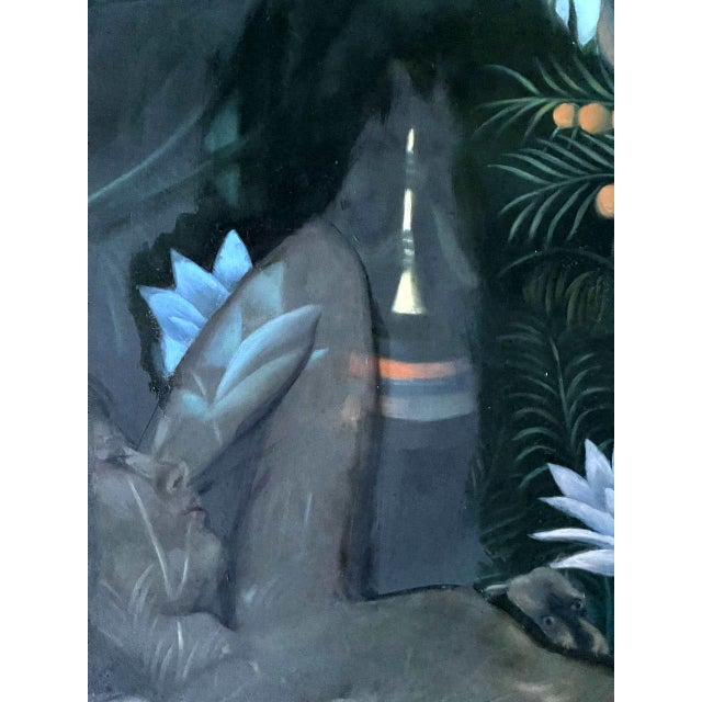 Oil Painting on Canvas by Yang Qian For Sale - Image 12 of 13