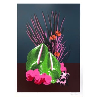 """Tropical Orchid"" Contemporary Botanical Still Life Print by Rosha Nutt For Sale"