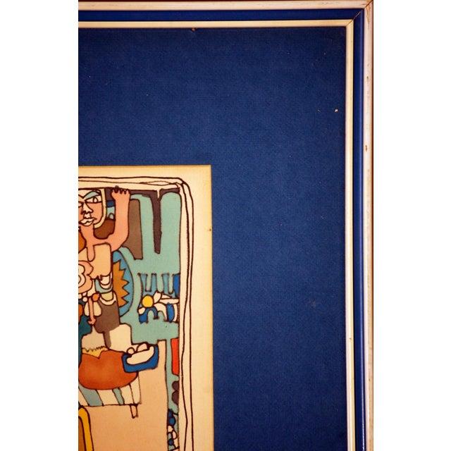 "E. Price Egan ""Brueger Vision"" Framed Pen and Ink Drawing For Sale - Image 12 of 13"