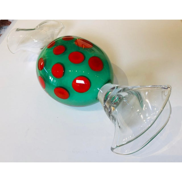 Contemporary 1990s Studio Ahus Swedish Art Glass Candy For Sale - Image 3 of 5