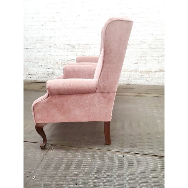 Vintage Blush Pink Velvet Armchairs - a Pair For Sale - Image 11 of 12
